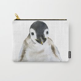 Baby Penguin Watercolor Carry-All Pouch