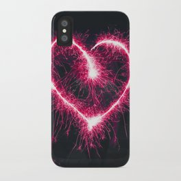 Firework Heart (Color) iPhone Case