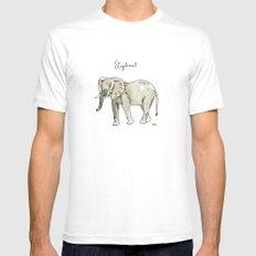 Elephant MEDIUM Mens Fitted Tee White