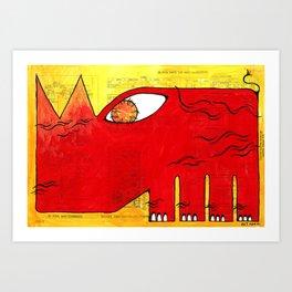 A Radiant Bestiary: Rhinoceros Art Print