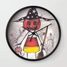 Trick or Treat (Witch) Wall Clock