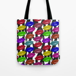 zebra lips Tote Bag