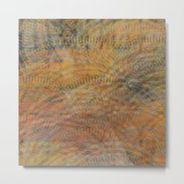 Circles of Rectangles and Waves Metal Print