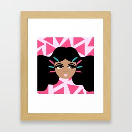 Don't Touch My Hair Framed Art Print