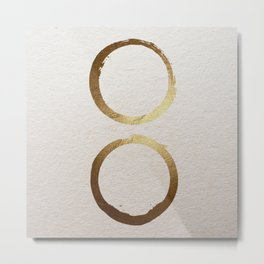 Zen golden circles Metal Print