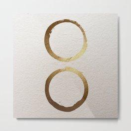 Zen golden circles Metal Print
