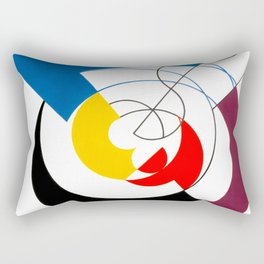 Construction dynamique, Peneration de spirales et diagonales by Sophie Taeuber-Arp Rectangular Pillow