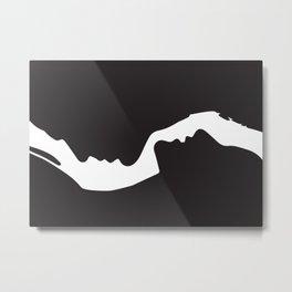 Lovers - Minimal Line Drawing Art Print6 Art Print Metal Print