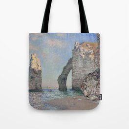 The Rock Needle and the Porte d'Aval by Claude Monet Tote Bag