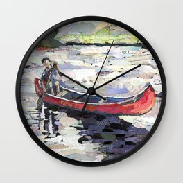 Peaceful Canoe Wall Clock