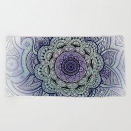 Mandala Violet Beach Towel