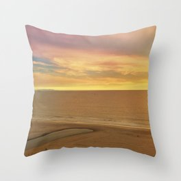 Will Rogers State Beach at Sunset Throw Pillow