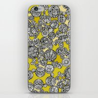 circles iPhone & iPod Skins featuring Circles by Valentina Harper