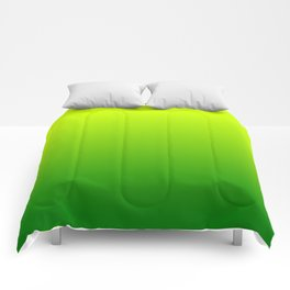 Chartreuse Green Ombre Comforters