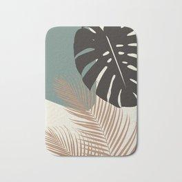 Minimal Monstera Palm Finesse #1 #tropical #decor #art #society6 Bath Mat