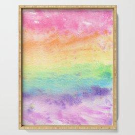 Watercolor Rainbow Wash Serving Tray