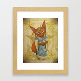 Bohemian Beasts: Fox Framed Art Print