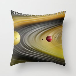 Stardust in Rotation. Throw Pillow