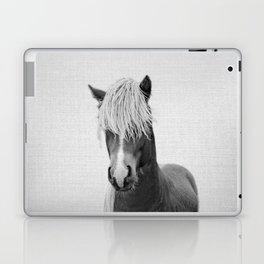 Horse - Black & White Laptop & iPad Skin
