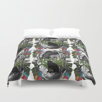 mouth Duvet Covers featuring ANATOMY: MOUTH by MANDIATO ART & T-SHIRTS