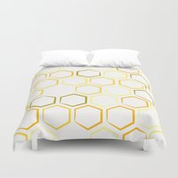 honeycomb Duvet Covers featuring Honeycomb by Thomas Knapp