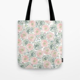 Flowers And Succulents White  #buyart #decor #society6 Tote Bag