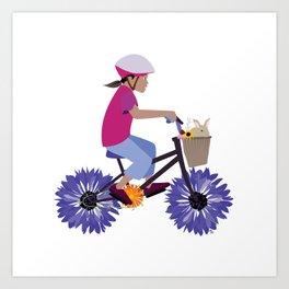 Summer Bike Ride Art Print