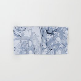 Powder blue water marble Hand & Bath Towel