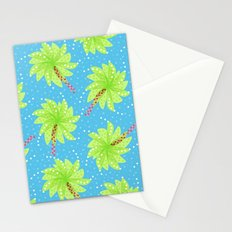 Pattern of Palm Tree-like Flowers Stationery Cards