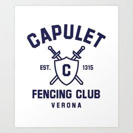 Capulet Fencing Club - Romeo & Juliet Art Print