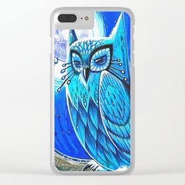 Blue Owl Clear iPhone Case