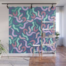 Wiggly Planaria Wall Mural