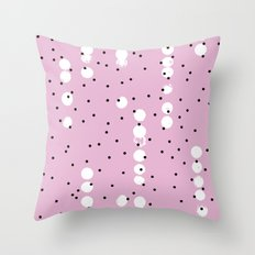 Connecting the neon dots abstract pink pop pattern Throw Pillow