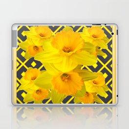 Golden Daffodils Grey Art Design Laptop & iPad Skin