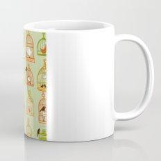 Bird Cages on Green Mug