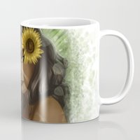 league of legends Mugs featuring Nidalee from league of legends by TheEmpa