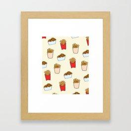 Gimme Fries Framed Art Print