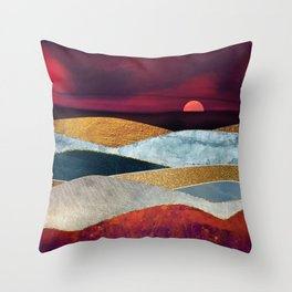 Crimson Sky Throw Pillow
