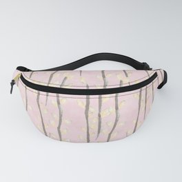 Pussy Willow Branches on Soft Pink pattern Fanny Pack