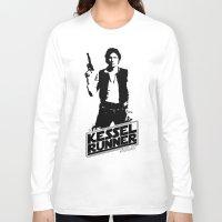 han solo Long Sleeve T-shirts featuring Han Solo-Kessel Runner by IIIIHiveIIII