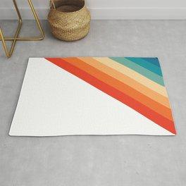 Retro 70s Stripe Colorful Rainbow Rug