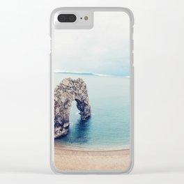Blue Mindset Clear iPhone Case