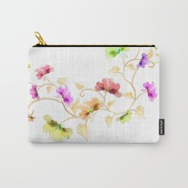 Flower Vine Carry-All Pouch
