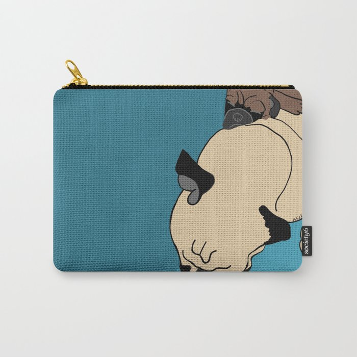 Pug and puppy napping Carry-All Pouch