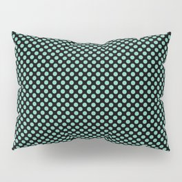 Black and Lucite Green Polka Dots Pillow Sham