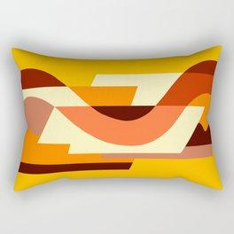 SUISSE - Art Deco Modern: AUTUMN ORANGE Rectangular Pillow