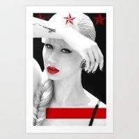 iggy azalea Art Prints featuring Iggy Azalea Bahaus by infinitelydan