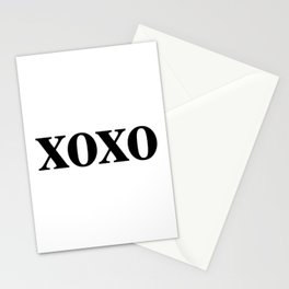 Black XOXO Stationery Cards