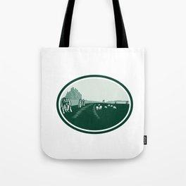 Avebury Stone Henge Circle Retro Tote Bag