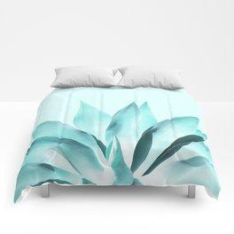 Aqua Solar Agave Comforters
